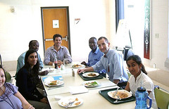 Lunch with CDC Rwanda team