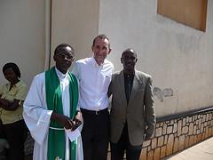 left: Rev. (Dean) Antoine Rutayisire, Dr. Richard Sezibera